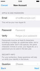 Apple iPhone 5s - iOS 8 - Applications - Create an account - Step 13