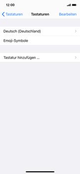 Apple iPhone 11 Pro - iOS 14 - Startanleitung - So fügen Sie eine Tastatursprache hinzu - Schritt 6