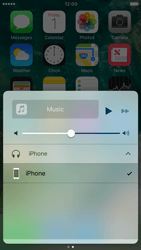 Apple iPhone 6s iOS 10 - iOS features - Control Centre - Step 12