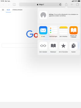 Apple iPad Pro 9.7 - iOS 12 - Internet - internetten - Stap 5