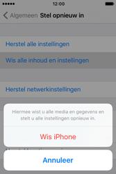 Apple iPhone 4S iOS 9 - Toestel reset - terugzetten naar fabrieksinstellingen - Stap 6