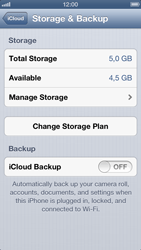Apple iPhone 5 - Applications - Configuring the Apple iCloud Service - Step 10