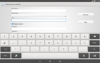 Sony Xperia Tablet Z2 LTE - E-mail - manual configuration - Step 13
