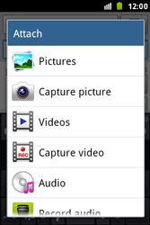 Samsung S7500 Galaxy Ace Plus - MMS - Sending pictures - Step 11