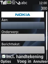 Nokia 2730 classic - e-mail - hoe te versturen - stap 7