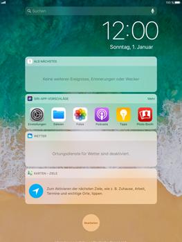 Apple iPad Air 2 - iOS 11 - Sperrbildschirm und Benachrichtigungen - 4 / 9