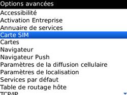 BlackBerry 8520 - Sécuriser votre mobile - Personnaliser le code PIN de votre carte SIM - Étape 5