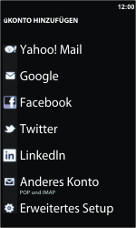 Nokia Lumia 610 - E-Mail - Konto einrichten - 2 / 2