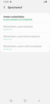 Samsung Galaxy S9 - Android Pie - Anrufe - Rufumleitungen setzen und löschen - Schritt 13