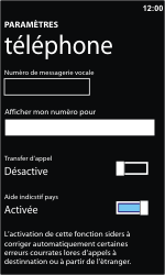 Nokia Lumia 610 - Messagerie vocale - configuration manuelle - Étape 7
