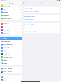 Apple iPad Pro 12.9 (2nd gen) - iPadOS 13 - Mobile phone - Resetting to factory settings - Step 5