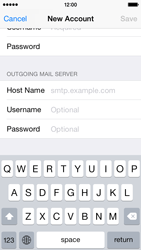 Apple iPhone 5s - iOS 8 - E-mail - manual configuration - Step 16