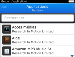 BlackBerry 9320 - Applications - Supprimer une application - Étape 6