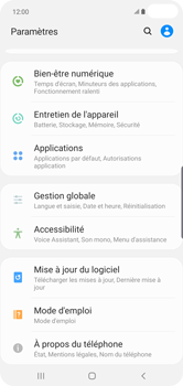 Samsung Galaxy S10 Plus - Logiciels - Installation de mises à jour - Étape 5