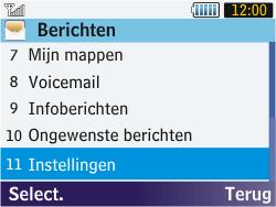 Samsung S3570 Chat 357 - SMS - Handmatig instellen - Stap 4