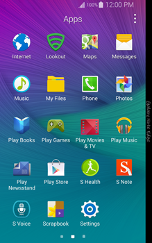Samsung Galaxy Note Edge - Applications - Setting up the application store - Step 3