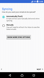 Sony Xperia XA (F3111) - Android Nougat - E-mail - Manual configuration IMAP without SMTP verification - Step 20