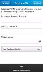 BlackBerry Z10 - Internet et roaming de données - Configuration manuelle - Étape 10