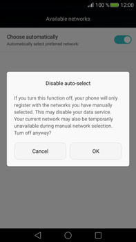 Huawei Mate S - Network - Manually select a network - Step 7