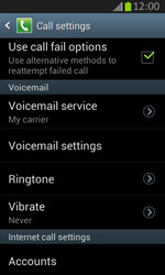 Samsung S7710 Galaxy Xcover 2 - Voicemail - Manual configuration - Step 6