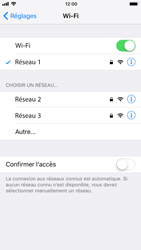 Apple iPhone 8 - Wifi - configuration manuelle - Étape 6