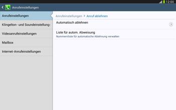 Samsung Galaxy Tab 3 10-1 LTE - Anrufe - Anrufe blockieren - 7 / 14