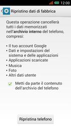 Alcatel One Touch Idol Mini - Dispositivo - Ripristino delle impostazioni originali - Fase 7