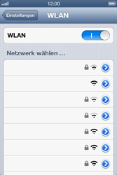 Apple iPhone 4 - WiFi - WiFi-Konfiguration - Schritt 5