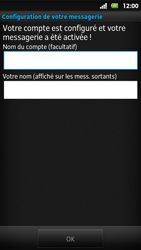 Sony MT27i Xperia Sola - E-mail - Configuration manuelle - Étape 15