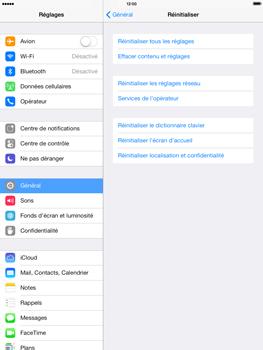 Apple iPad Retina iOS 7 - Téléphone mobile - Réinitialisation de la configuration d