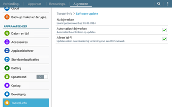 Samsung T535 Galaxy Tab 4 10-1 - Software updaten - Update installeren - Stap 7