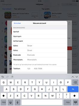 Apple ipad-pro-9-7-inch-met-ios10-model-a1674 - Applicaties - Account aanmaken - Stap 20