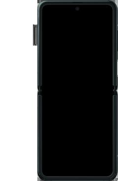 Samsung Galaxy Z Flip Single-SIM + eSIM (SM-F700F) - Instellingen aanpassen - SIM-Kaart plaatsen - Stap 5