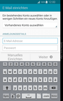 Samsung Galaxy Note Edge - E-Mail - Manuelle Konfiguration - Schritt 5