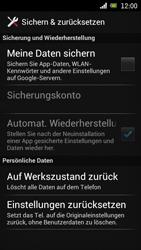 Sony Ericsson Xperia Ray mit OS 4 ICS - Fehlerbehebung - Handy zurücksetzen - Schritt 7