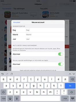 Apple ipad-pro-9-7-inch-met-ios10-model-a1674 - Applicaties - Account aanmaken - Stap 14