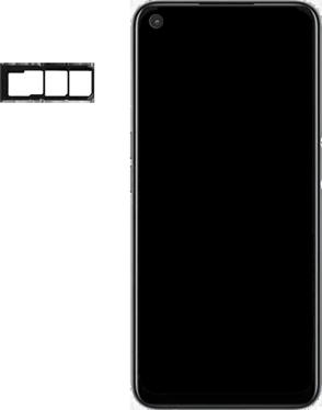 Oppo A72 - Premiers pas - Insérer la carte SIM - Étape 3