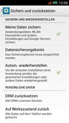 Alcatel One Touch Idol Mini - Gerät - Zurücksetzen auf die Werkseinstellungen - Schritt 5