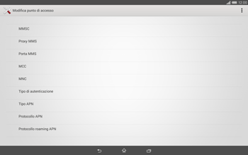 Sony Xperia Tablet Z2 LTE - MMS - Configurazione manuale - Fase 11