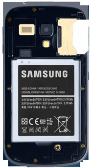 Samsung S7580 Galaxy Trend Plus - Primeros pasos - Quitar y colocar la batería - Paso 3