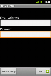Alcatel OT-983 - E-mail - Manual configuration - Step 10