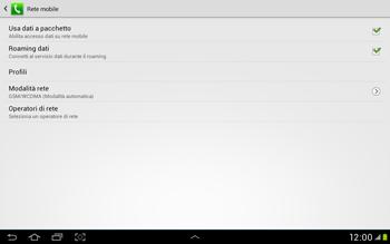 Samsung Galaxy Tab 2 10.1 - Internet e roaming dati - Disattivazione del roaming dati - Fase 6