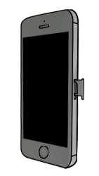 Apple iPhone 5 - SIM-Karte - Einlegen - Schritt 2
