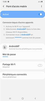 Samsung Galaxy A70 - Internet et connexion - Partager votre connexion en Wi-Fi - Étape 12