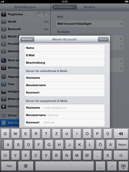 Apple iPad mini - E-Mail - Manuelle Konfiguration - Schritt 16