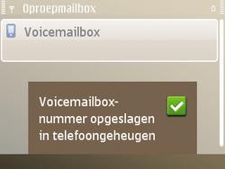 Nokia E72 - Voicemail - handmatig instellen - Stap 9