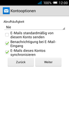 Alcatel Pop C7 - E-Mail - Manuelle Konfiguration - Schritt 20