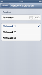 Apple iPhone 5 - Network - Manually select a network - Step 6
