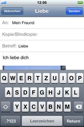 Apple iPhone 3GS - E-Mail - E-Mail versenden - Schritt 11