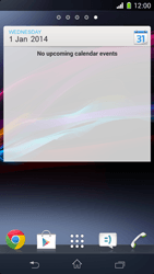 Sony Xperia Z1 Compact - Getting started - Installing widgets and applications on your start screen - Step 8